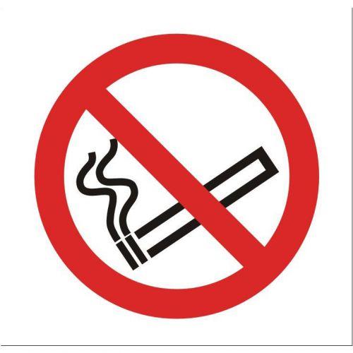 Stewart Superior No Smoking in Vehicle Sign 100x100mm Self-adhesive Clear Vinyl Ref SB012SAV