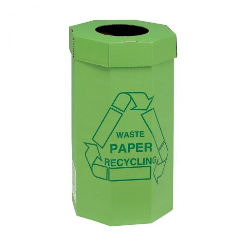 Acorn Green Bin for Recycling Waste Capacity of 60 Litres 360x677mm Green Ref 402565 [Pack 5]