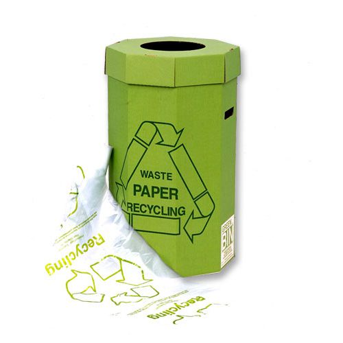 Brand New Acorn Green Bin Liners Capacity 60 Litres Clear and Printed Ref 402573 Pack 50