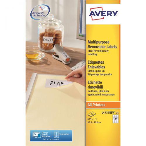 avery mini multipurpose labels removable laser 27 per sheet 63 5x29