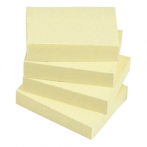 Super Saver Yellow Sticky Notes 38x51mm 100 Sheets per Pad