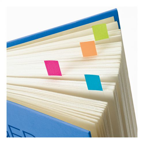 Post-it Index Lined Strong 25mm Assorted Pink Bright-green Orange Pack 66
