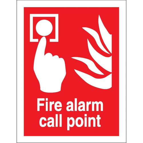 Stewart Superior Fire Alarm Call Point Sign W150xH200mm Self-adhesive Vinyl Ref FF073SAV