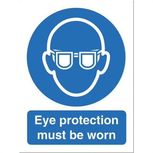 Stewart Superior Eye Protection Must Be Worn Sign W150xH200mm Self-adhesive Vinyl Ref M004SAV