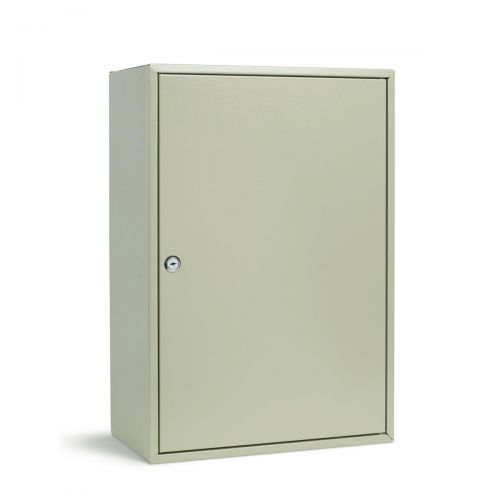 Key Cabinet Steel Lockable With Wall Fixings Holds 300 Keys Grey