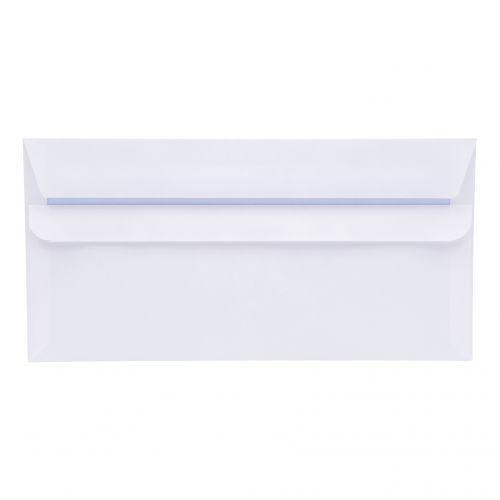 5 Star Office Envelopes PEFC Wallet Self Seal 90gsm DL 220x110mm White [Pack 500]