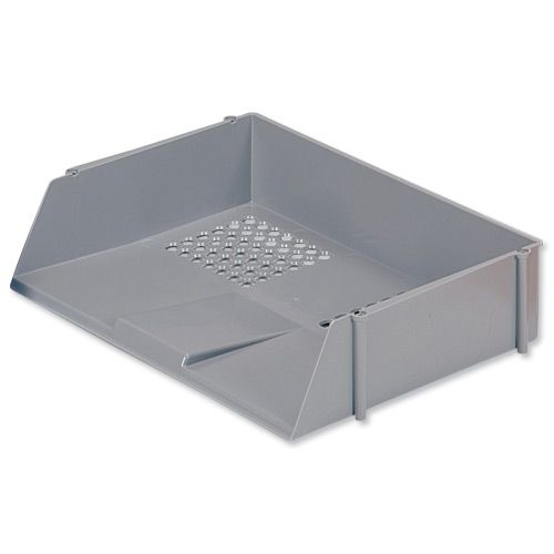 5 Star Wide Entry Letter Tray Grey