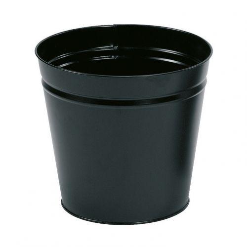 5 Star Round Metal Waste Bin 15L Black