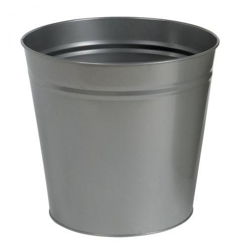 5 Star Round Metal Waste Bin 15L Grey