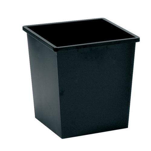5 Star Square Metal Waste Bin 27L Black