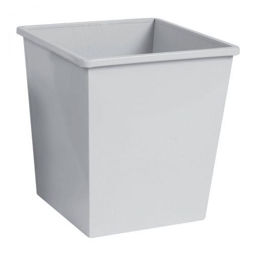 5 Star Square Metal Waste Bin 27L Grey