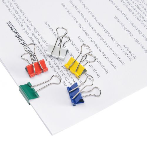 Pack 1 5 Star Office Paperclips Metal Large Length 33mmm Plain Assorted Colours