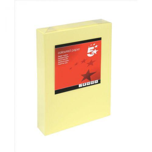5 Star Tinted Card A4 160g L/Yell Pk250