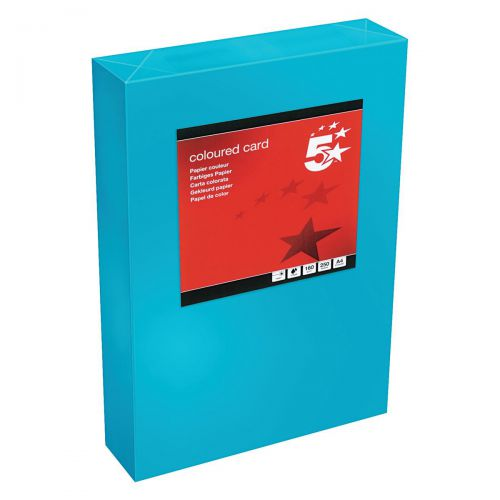 5 Star Office Coloured Card Tinted 160gsm A4 Deep Blue [Pack 250]