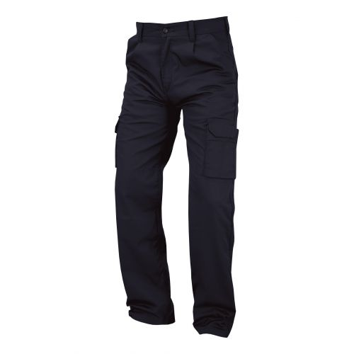67452560efaf6 Combat Trousers Multifunctional 30in Long Navy Blue Ref ...