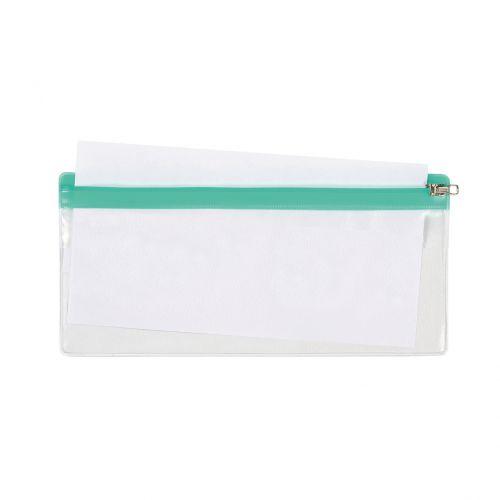 5 Star DL Zip Bag 210x145mm Transparent with Zip Colour Astd [Pack 5]