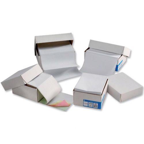 5 Star Office Listing Paper 2-Part Carbonless 11inchx368mm Plain White [1000 Sheets]