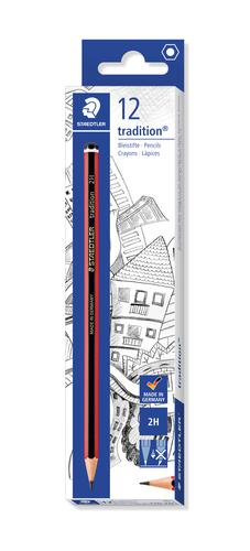 Staedtler Tradition 110 2H Pencil (Pack of 12) 110-2H