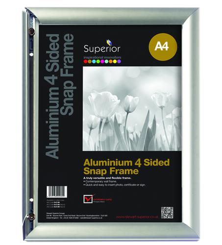 Aluminium Front Loading Snap Frame A4 AM9-A4SV