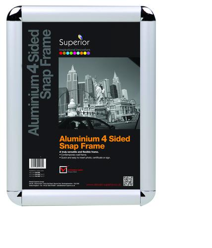Aluminium A3 Four Sided Snap Frames With Corners SNP001-A3
