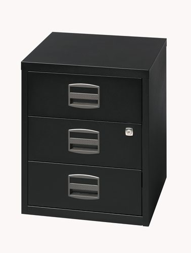 Bisley A4 Mobile Home Filer 3 Drawer Black