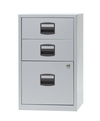 Bisley A4 Non-Mobile Home Filer 3 Drawer Grey Goose