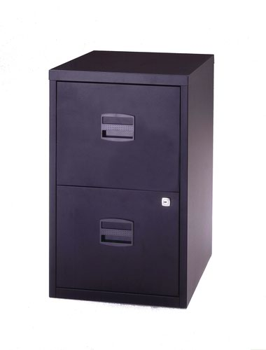 Bisley A4 Personal And Home Filer 2 Drawer Black