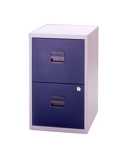 Bisley A4 Personal And Home Filer 2 Drawer Grey/Blue