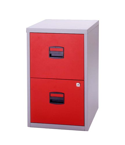 Bisley A4 Personal And Home Filer 2 Drawer Grey/Red