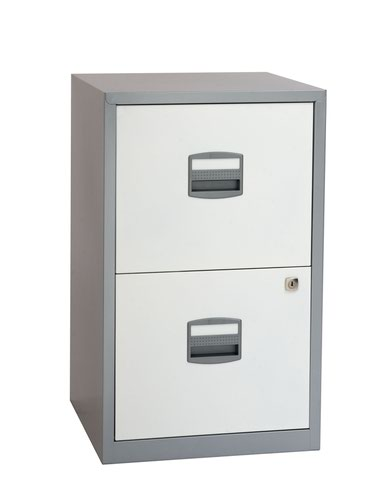 Bisley A4 Personal And Home Filer 2 Drawer Sil/Wht