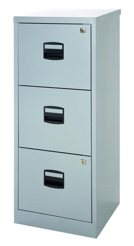 Bisley A4 Personal And Home Filer 3 Drawer Grey
