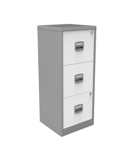 Bisley A4 Personal And Home Filer 3 Drawer Sil/Wht