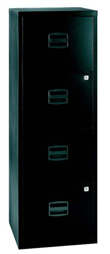 Bisley A4 Personal And Home Filer 4 Drawer Black