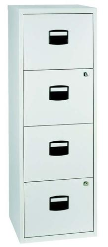 Bisley A4 Personal And Home Filer 4 Drawer Grey