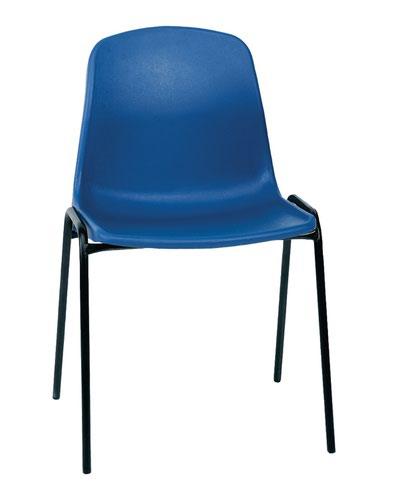 Economy Polypropylene Chair - Blue