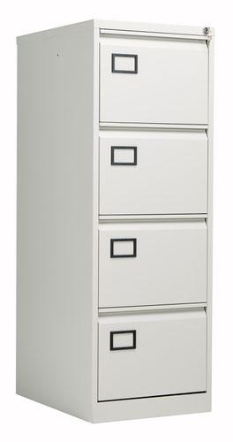 Bisley 4 Drawer Contract Steel Filing Cabinet - Goose Grey
