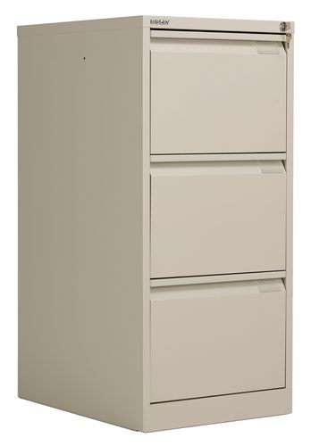 Bisley 3 Drawer Classic Steel Filing Cabinet - Goose Grey