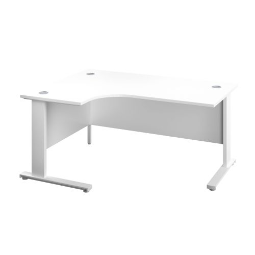 1200X1200 Cable Managed Upright Left Hand Radial Desk White-White