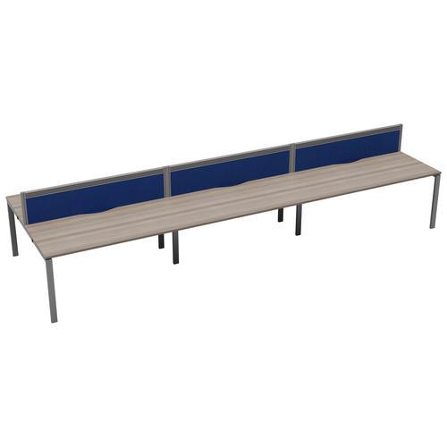 CB 6 Person Bench 1200 X 800 Cable Port Grey Oak-Silver