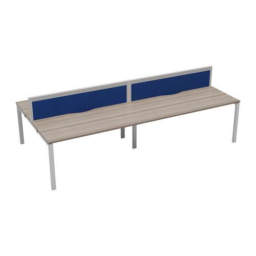 CB 4 Person Bench 1200 X 800 Cable Port Grey Oak-White