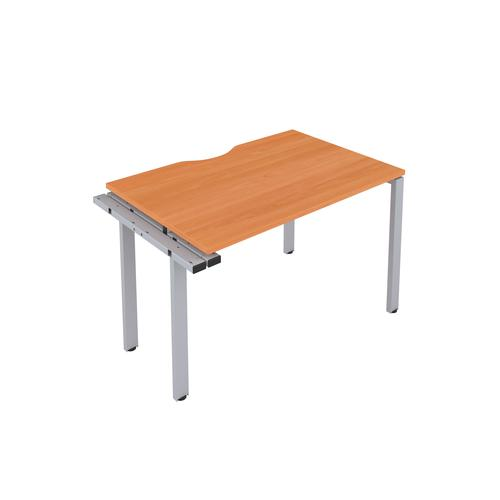 CB 1 Person Extension Bench 1200 X 800 Cut Out Beech-Silver