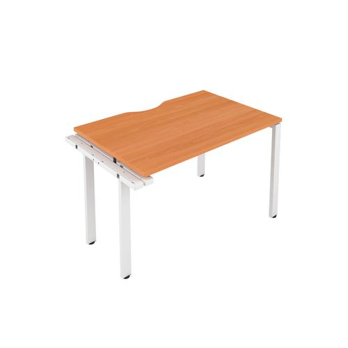 CB 1 Person Extension Bench 1200 X 800 Cut Out Beech-White