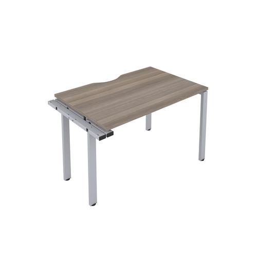 CB 1 Person Extension Bench 1200 X 800 Cut Out Grey Oak-Silver
