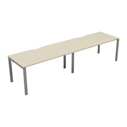 CB 2 Person Single Bench 1200 X 800 Cut Out Maple-Silver