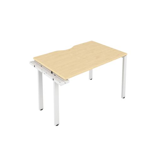 CB 1 Person Extension Bench 1200 X 800 Cut Out Maple-White