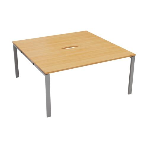 CB 2 Person Bench 1200 X 800 Cut Out Beech-Silver