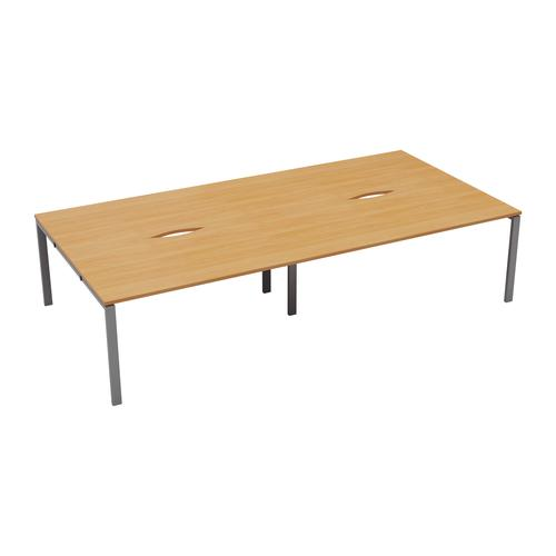 CB 4 Person Bench 1200 X 800 Cut Out Beech-Silver