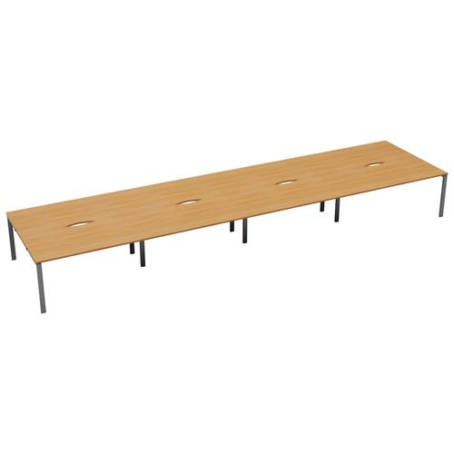 CB 8 Person Bench 1200 X 800 Cut Out Beech-Silver