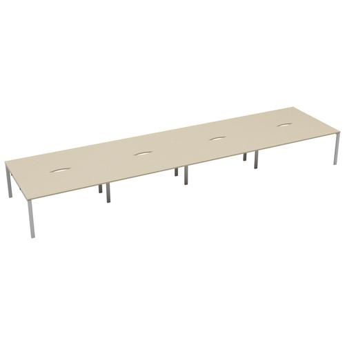 CB 8 Person Bench 1200 X 800 Cut Out Maple-White