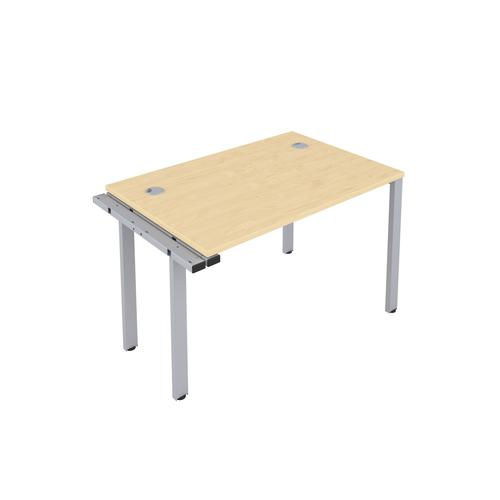 CB 1 Person Extension Bench 1200 X 800 Cable Port Maple-Silver